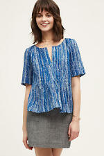 NEW ANTHROPOLOGIE Orchid Island Top Blouse 2 XS by Maeve Blue