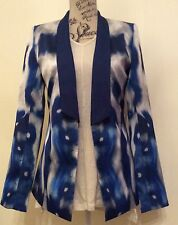 Women's Charlie Brown Blue Printed Jacket  size 12 fit 14 too BNWT RRP $299