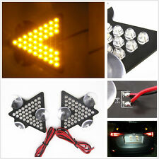 Amber Arrow LED Rear Windshield Sucker Turn Signal Indicator Lights General Car