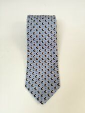 Ermenegildo Zegna Light Blue Print Silk Tie