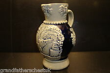 GENUINE GERMAN STEIN MUG BEER BIER GLASS HANDARBEIT NO 5 JUG POT VASE OLD NEAT