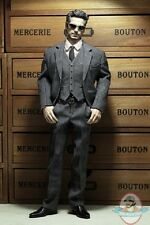 Pop Toys 1/6 Style Series Men's striped Suit in Light Grey POP-X22C