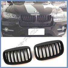 Fit 07-13 BMW E70 X5 SUV Liftback Eyebrow Front Replaced Grille Matte Black Hood