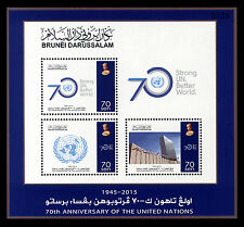Brunei 70th Anniv Of United Nations 2015 Souvenir Sheet MNH