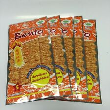 SNACK BENTO SQUID SEAFOOD  APPETIZERS FLAVOR SWEET HOT SPICY THAI FOOD 30 X 6 G