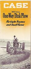Farm Implement Brochure - Case - WRA series One-Way Disk Plow - c1948 (F2719)