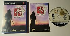 WAY OF THE SAMURAI 1 ONE PS2 PLAYSTATION GAME RPG FIGHTING BEAT EM UP GAME RARE