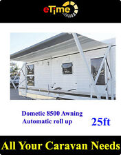 Dometic 8500 Awning 25ft,semi- automatic roll-up,Blue