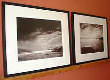 LARGE PAIR SIGNED PRINTS TREVONE BAY CRAIG EASTON BLACK FRAME PADSTOW CORNWALL
