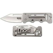 "SOG Cash Card Knife 2 ¾"" 8Cr13MoV S. Steel Blade & Skeletonized S. Steel handle"