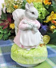 Beatrix Potter  Music box Goody Tiptoes Grey Squirrel Musical