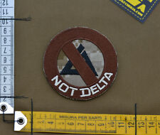 """Ricamata / Embroidered Patch Devgru """"Not Delta"""" with VELCRO® brand hook"""
