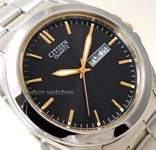 CITIZEN MEN TWO TONE STAINLESS STEEL DAY DATE WR BF0584-56E cg