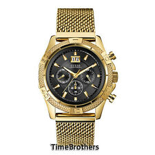 NEW GUESS WATCH for Men * Chronograph * Fancy Gold Tone Stainless Steel U0205G1