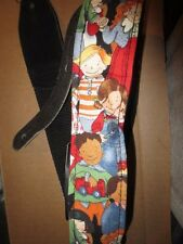 CHILDREN OF THE WORLD GUITAR STRAP GLOVE LEATHER & POLY-NYLON