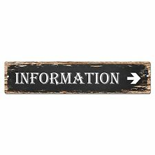 SP0016 Information Street Sign Bar Store Shop Pub Cafe Home Shabby Chic Decor