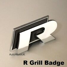 New VW R Grill Badge Emblem Decal Logo Grille Golf Polo Scirocco line R20 Black