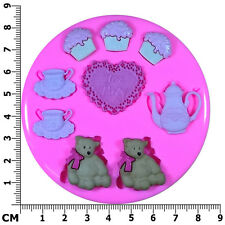 Teddy Bears Picnic Tea Party Silicone Mould by Fairie Blessings