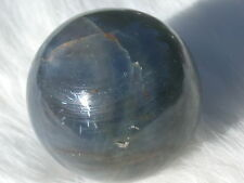 "1.54"" BLUE SAPPHIRE SPHERE w STAR NATURAL CORUNDUM CRYSTAL BALL INDIA 620ct"
