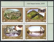 Nepal 2005 Tourism/Lake/Buildings/Trees/Architecture/Heritage 4v blk (n38813)