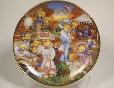 Teddy Bear Outing Collector Plate Franklin Mint Carol Lawson Limited Edition
