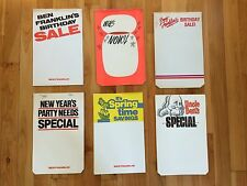 Vintage Advertising - Ben Franklin Store Lowville, NY Paper Sale Flyers - 6 Pads