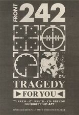 27/10/90 Pgn20 Advert: Front 242 tragedy For You The New Single Out Now 7x5