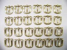 LEATHER CRAFT BUCKLES~~# 12 BELT BUCKLE~SOLID BRASS~3/4 INCH SIZE~~(24) QUANTITY