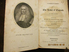 Blackstone Commentaries on the Laws of England, 1799 & 1807, 4 volumes