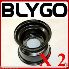 "2X Black 18X 9.50 - 8"" Inch 4 Stud Rear Back Wheel Rim Quad Dirt Bike ATV Buggy"