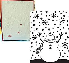 Darice Embossing Folders - SNOWMAN ARMS UP 1216-65 embossing folder Christmas