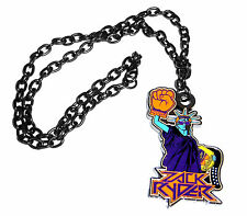 "WWE WRESTLING ""RYDER"" DARK SILVER COLOR METAL CHAIN PENDANT NECKLACE NEW"