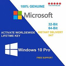 Windows 10 Pro 32/64 bit WIN key licenza originale License OEM GENUINE