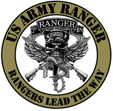 Framed US Military Insignia Print – US Army Ranger (Picture Poster Fighting Art)