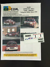 DECALS 1/24 MITSUBISHI LANCER LOIX RALLYE YPRES 1999 WRC RALLY MARLBORO