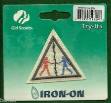 VINTAGE GIRL SCOUT - BROWNIE TRY-ITS IT - WORKING IT OUT - ON CARD - FREE SHIP