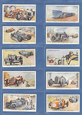 CARS  -  OGDENS LTD. -  RARE  SET  OF  50  MOTOR  RACES  1931  CARDS  -  1931