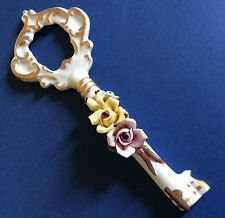 CAPODIMONTE Keys Hanger Vintage Porcelain N Crown Pottery Mark Christmas Gift
