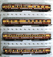 HO Scale Train ROYAL AMERICAN SHOWS CIRCUS CAR SET IHC