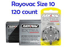 120 Rayovac Extra Hearing Aid Batteries Size 10 Super Fresh cells Expire 2018