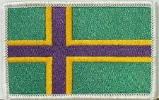 VINLAND Flag Military Army Patch With VELCRO® Brand Fastener White Border Norway