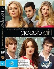Gossip Girl : Season 1 (DVD, 2009, 5-Disc Set) REGION 4 - VERY GOOD - $2 POSTAGE