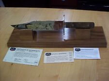 CUSTOM BUCK KNIFE 916 MOUNT RUSHMORE ~ LIMITED EDITION #121/250 ~ MINT NOS 2009