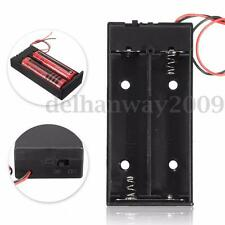 "6"" Wire Battery Storage Holder Case Box for 3.7V 2*18650 Li-ion Batteries Switch"