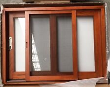 SLIDING WINDOW, SOLID CEDAR TIMBER, 6MM CLEAR GLASS, 1200 x 900h