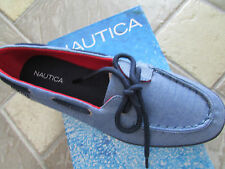 NEW NAUTICA PINECREST CANVAS BOAT SHOES WOMENS 10 NAVY CHAMBRAY FREE SHIP