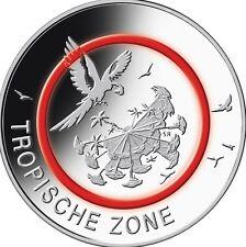 5 Euro Münze J 2017 Tropische Zone roter Polymerring !Kein Vorverkauf - Sofort!