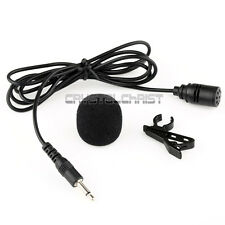3.5 mm Clip On Mini Microphone Lapel Tie Hands Free Lavalier Mic For Laptop PC