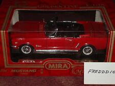 MIRA SOLIDO 1964 1/2 FORD MUSTANG CONVERTIBLE RED/BLACK 1/18