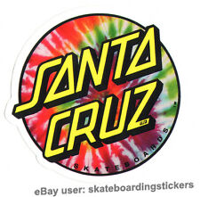 Santa Cruz Tie Dye Skateboard Sticker skate snow surf board bmx guitar van ipad